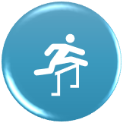 icon showing person jumping over hurdle