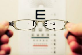 glasses and eye chart image