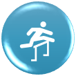 icon showing person jumping hurdle