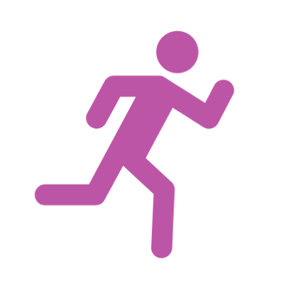 Image of a stick figure running