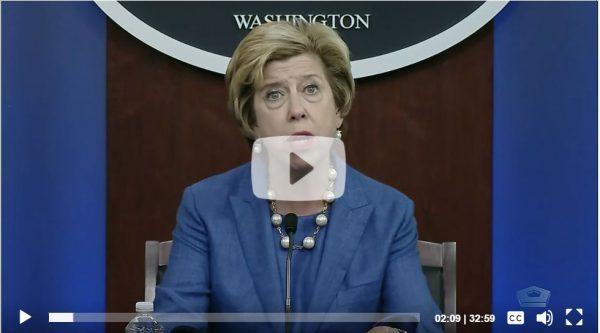 Screenshot of Ellen Lord, speaking on AAF