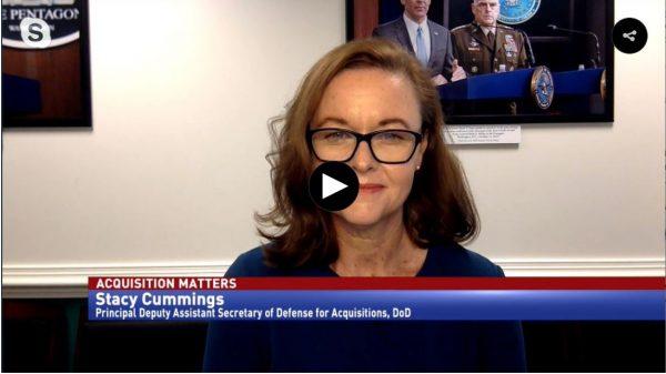 Screenshot of Stacy Cummings speaking on AAF